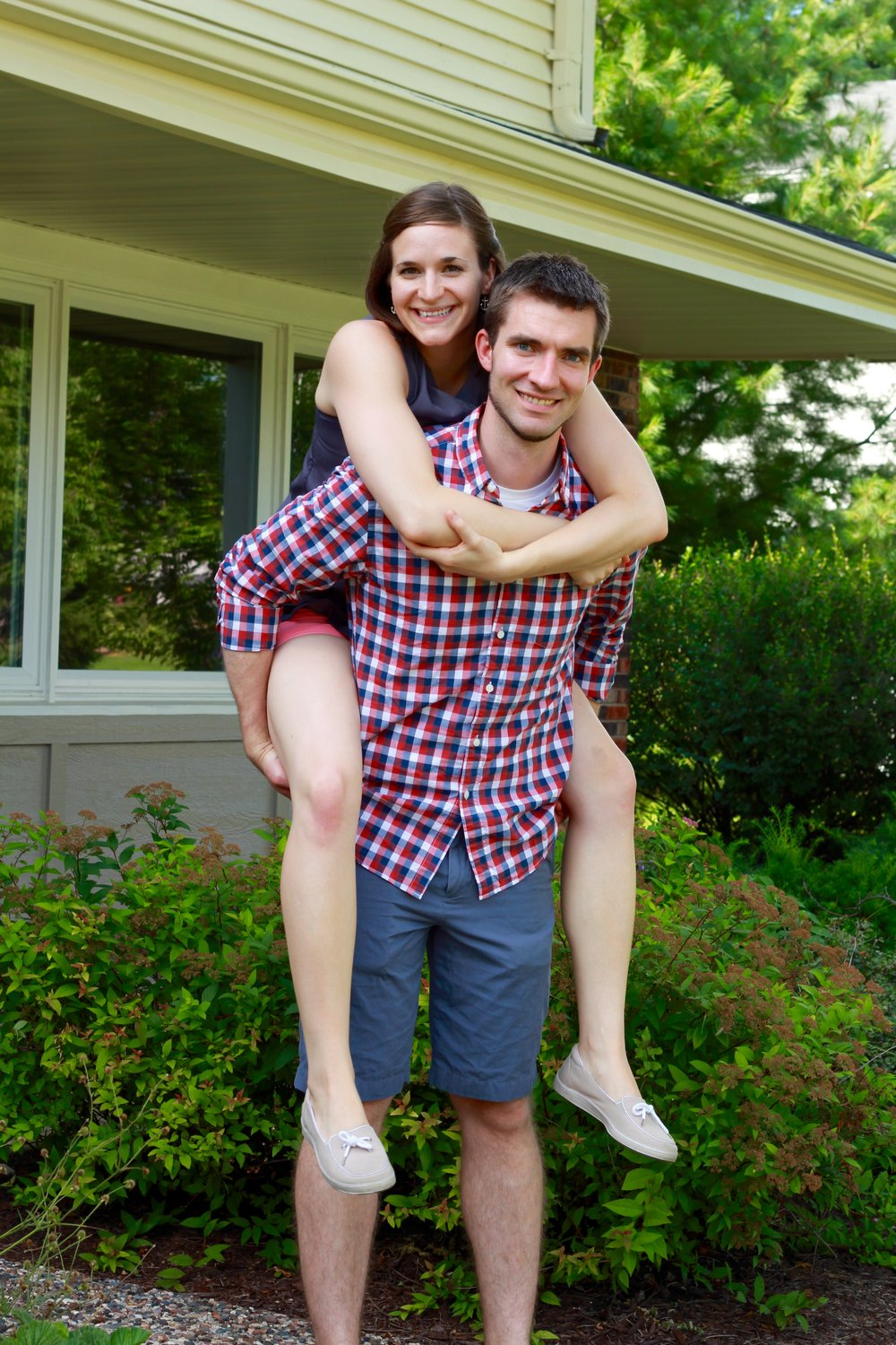 Patrick & I after we bought our first home.