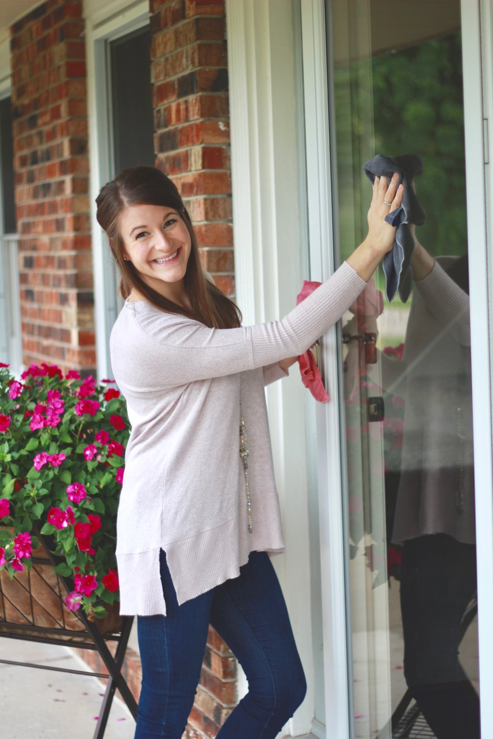 Even cleaning outdoor windows has become so much easier!