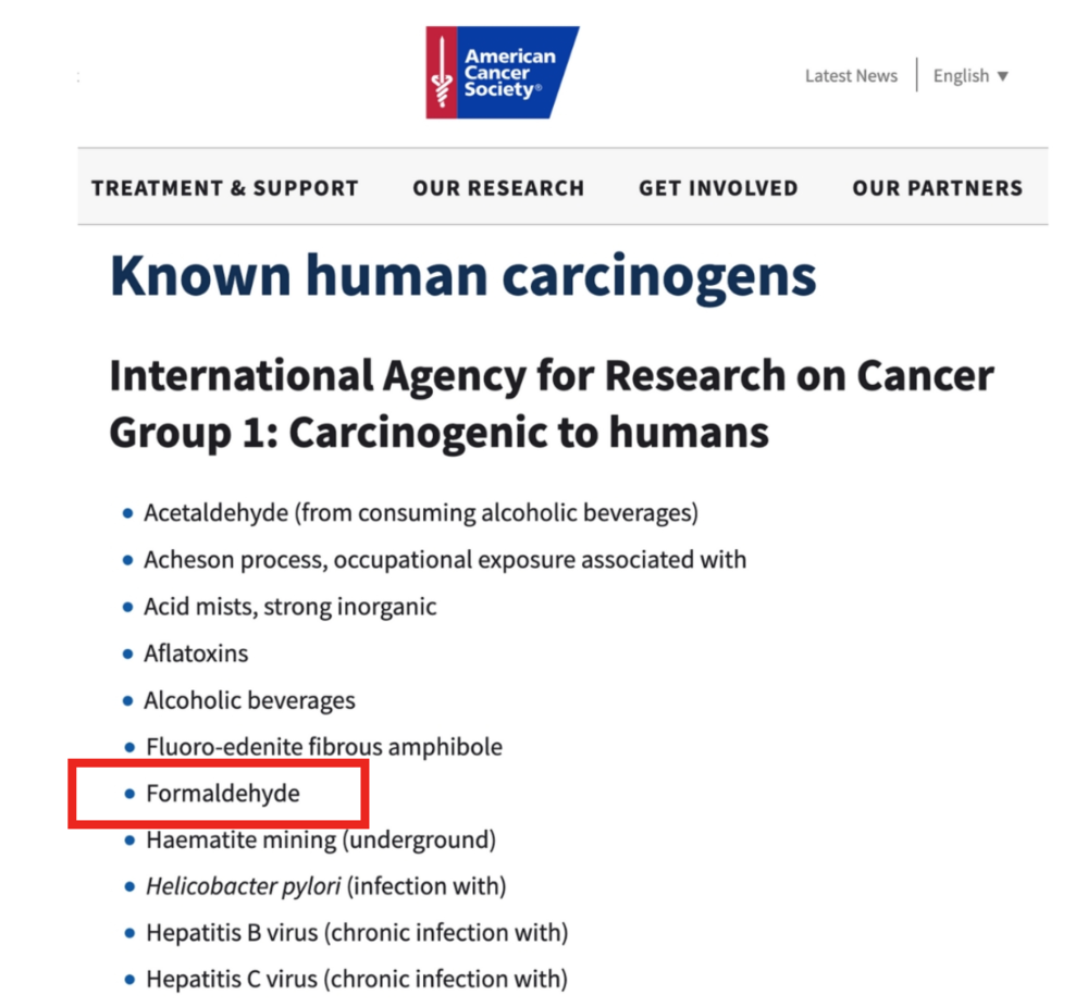 Known Human Carcinogens | Wholesome LLC