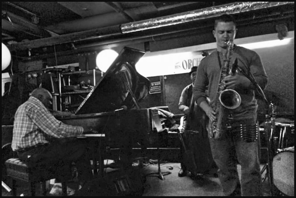 Nate Hook sitting in with Harold Mabern's trio at the Fat Cat in NYC