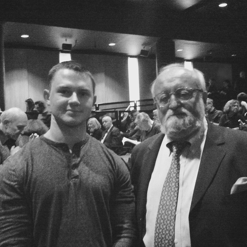 Nate Hook and Krzysztof Penderecki in NYC