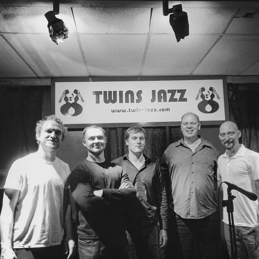 L to R: Gusten Rudolph, Nate Hook, Kevin Clark, Alex Norris, Jeff Reed  Twins Jazz in Washington, DC