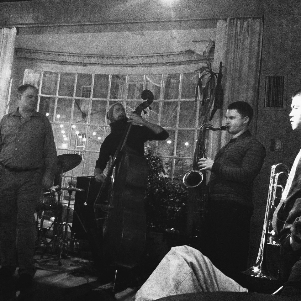 Nate Hook with Alex Norris and others at An Die Musik in Baltimore, MD