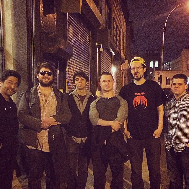 My band plus Matt Garrison after a gig at Shapeshifter Lab.  This was 4 months out from our record date.