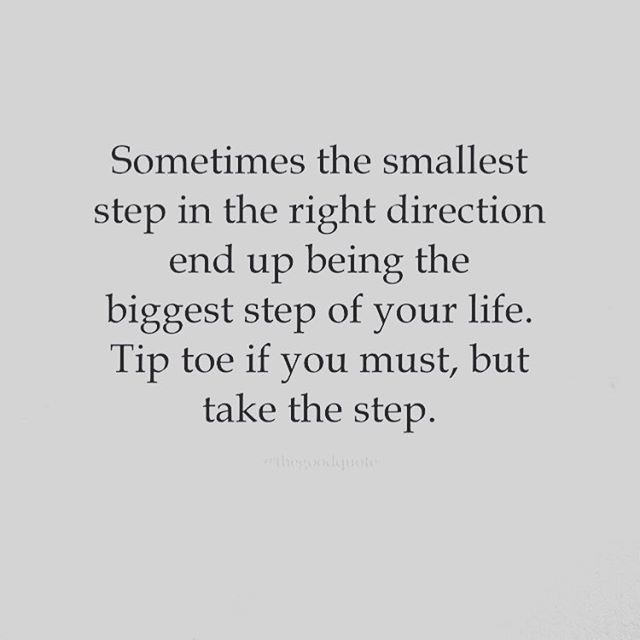 Baby steps ....