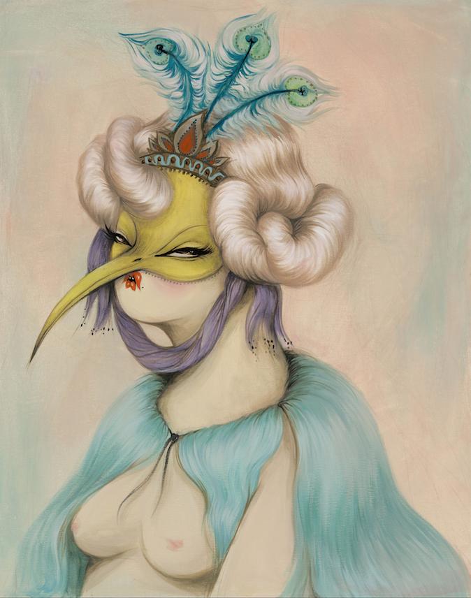 Miss Van - Lady Blue, 36%22 x 29%22, Acrylic on canvas, 2014.png