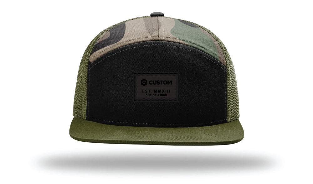 d20ef1f733bbe Custom 7 Panel Hat — AMB3R