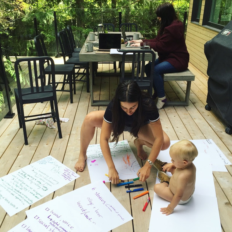 Roe is big into brainstorms — especially ones that involve markers.