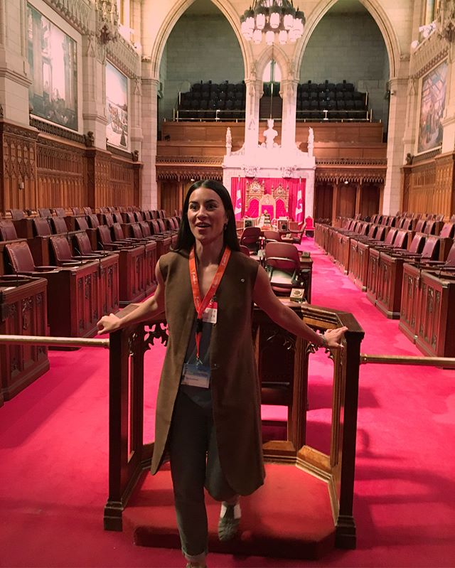 That day I went to Parliament Hill to accept an award for being named 1 of the 50 most inspiring women in tech and innovation in Canada. So hype. Can't act cool. So I won't even try.  _ #womenempowerment #stem #impact @sphereishere