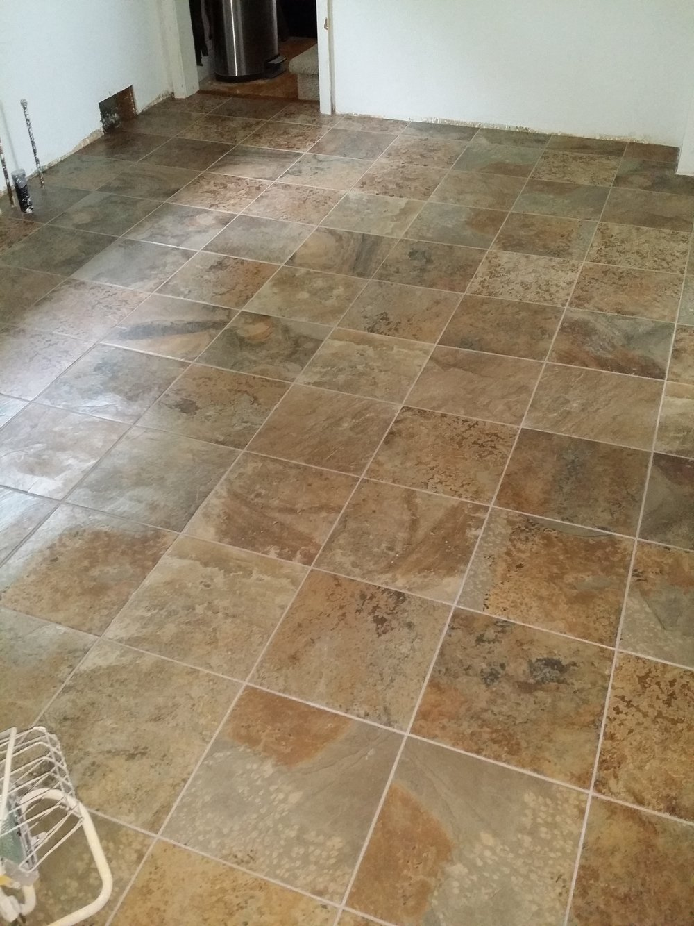 Porcelain Tile installed in Cortenay, ND.