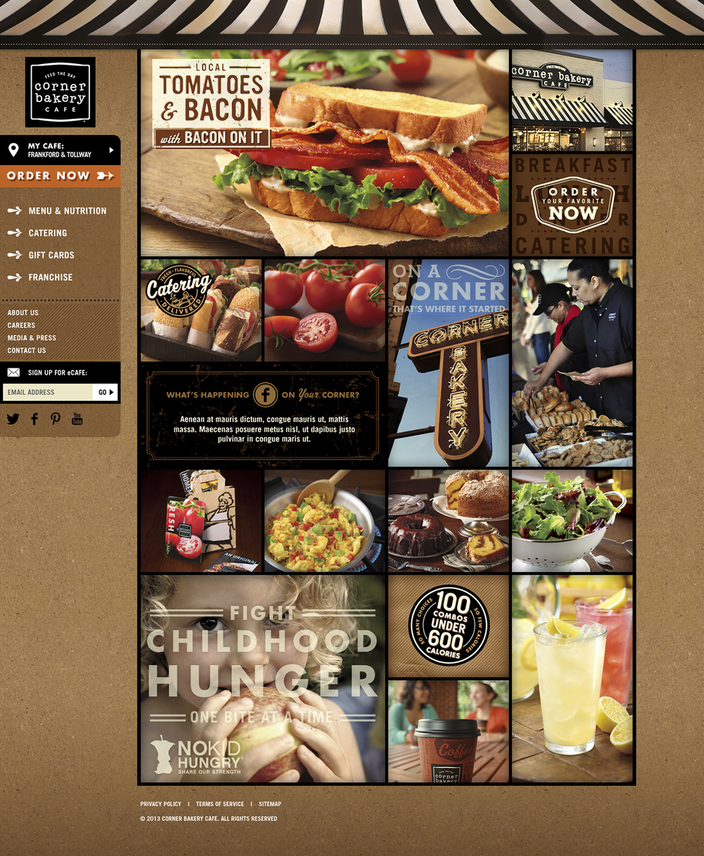 Corner Bakery Cafe: Website