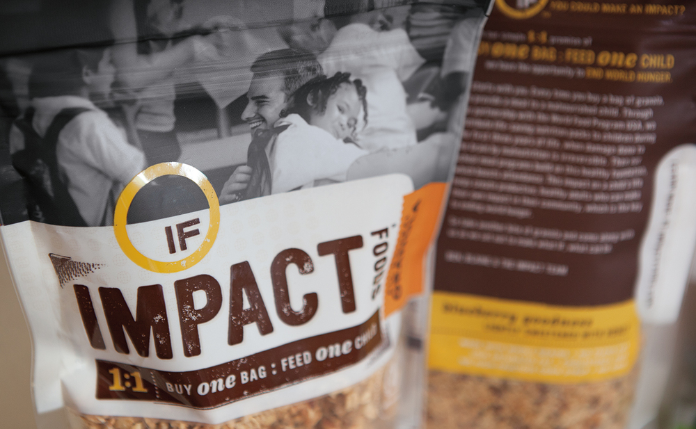impact foods granola - packaging detail