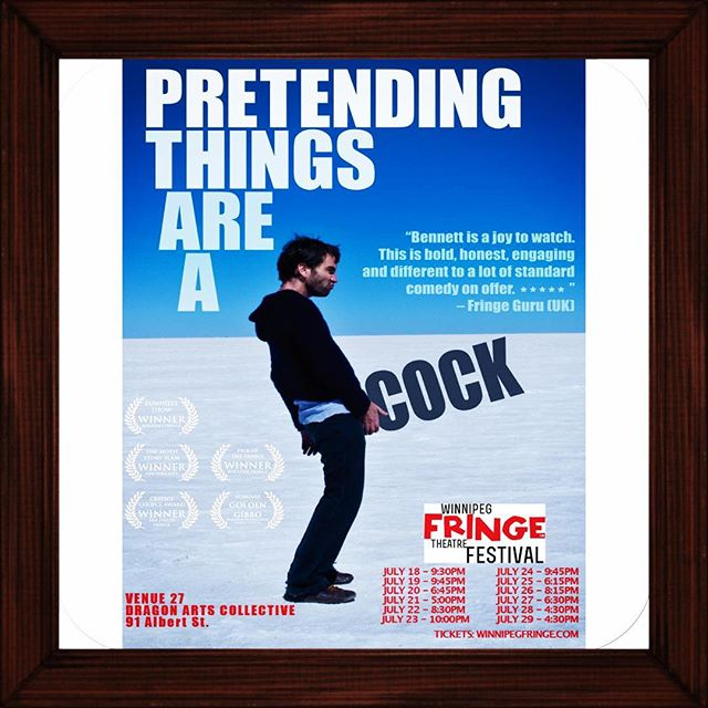 PRETENDING THINGS ARE A COCK IS COMING TO @winnipegfringe #wpgfringe