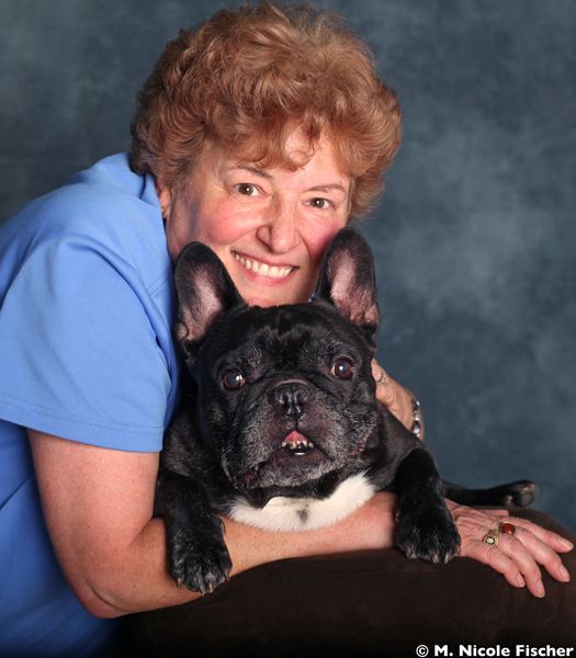 Deborah Stevenson with her beloved French Bulldog, Soren   Photo (c) M. Nicole Fischer