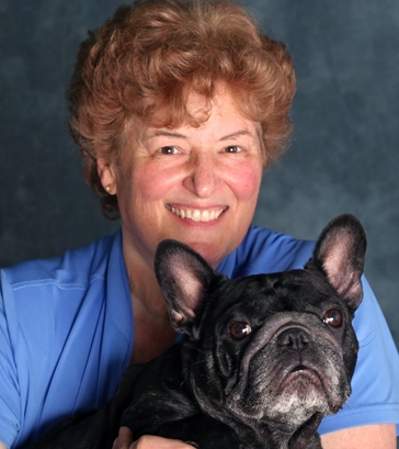 Deb with her French Bulldog, Audra ... Soren's daughter and the first Frenchie to become and AKC dual champion in Conformation and Agility.