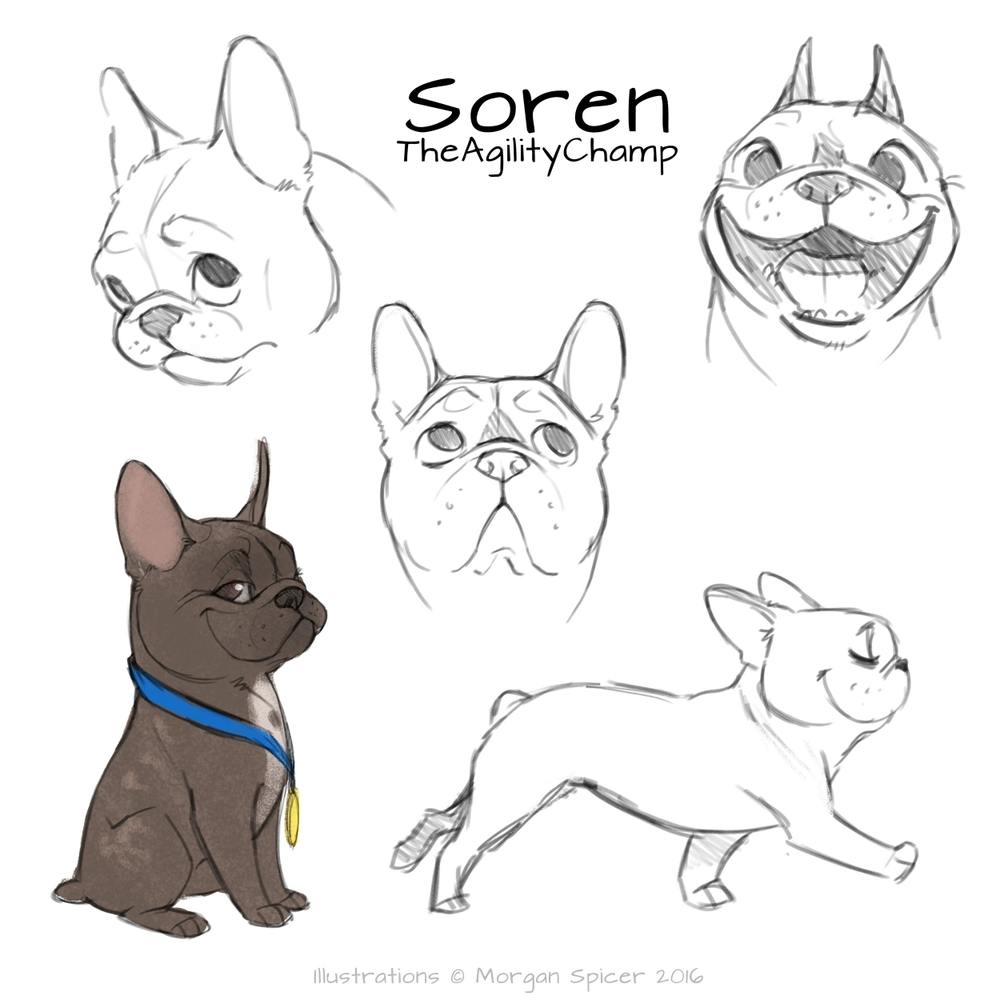 Morgan's concept art of Soren perfectly captured not only Soren, but my heart.  When I saw these drawings, I was positive that Morgan was the one to bring Soren to life on paper.