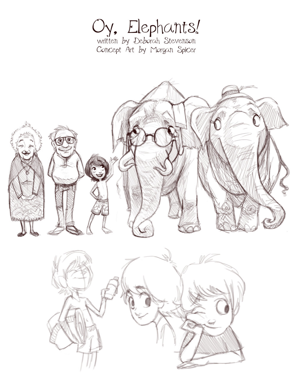 Concept art for Oy, Elephants!  (c) Morgan Spicer