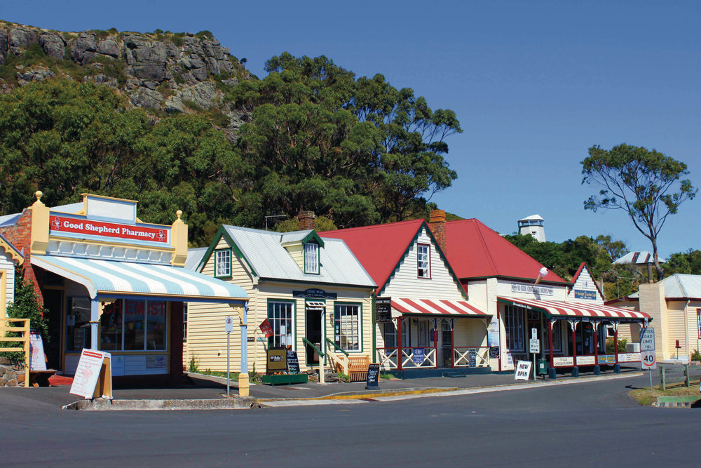 Tasmania's charming village of Stanley. Image sourced by Featherston Design.