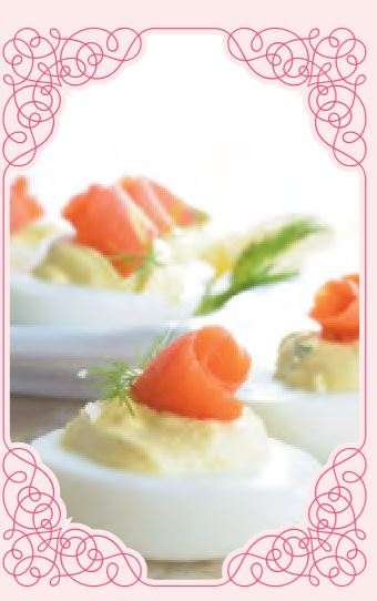 Salmon Devilled Eggs -