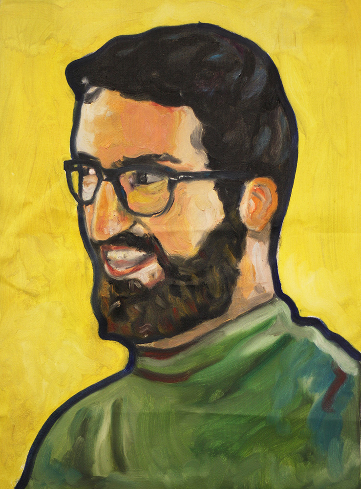 Self-Portrait in yellow