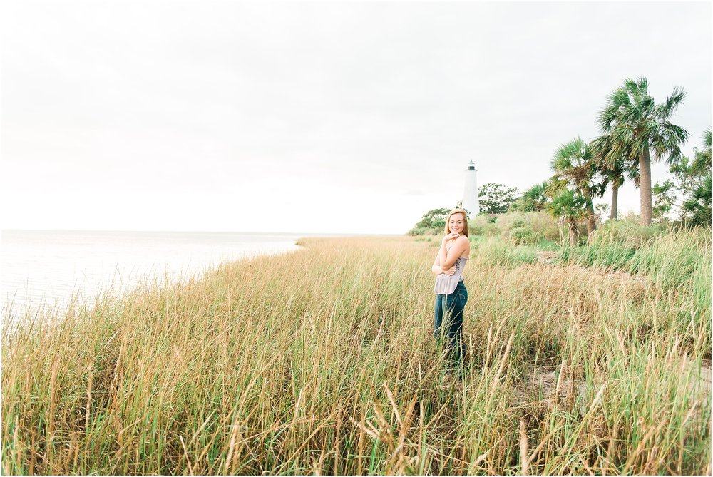 Tallahassee Florida Wedding & Senior Photographer, Anna Senior Session at Saint Marks Lighthouse, Crawfordville Florida_0015.jpg