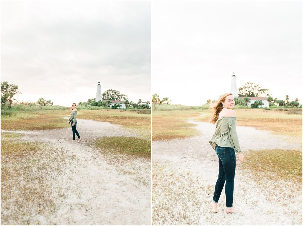 Tallahassee Florida Wedding & Senior Photographer, Anna Senior Session at Saint Marks Lighthouse, Crawfordville Florida_0020.jpg