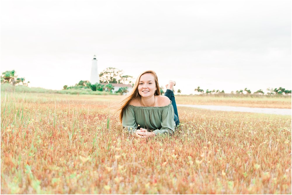 Tallahassee Florida Wedding & Senior Photographer, Anna Senior Session at Saint Marks Lighthouse, Crawfordville Florida_0025.jpg
