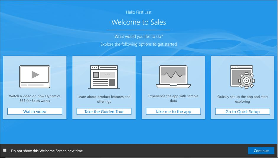 The New WELCOME Screen.... look Tiles! (Credit: Microsoft)