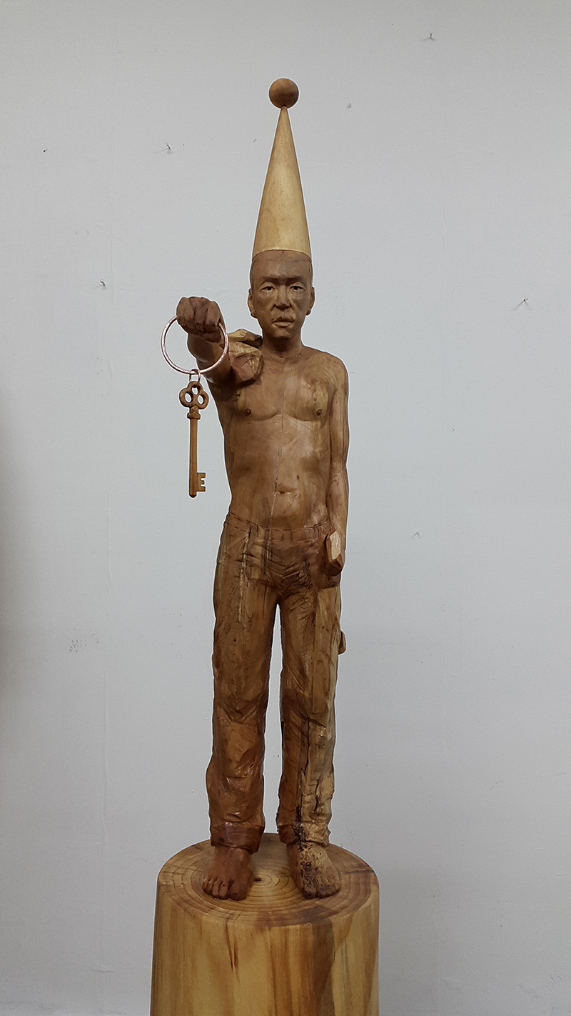 "The man with the key.L11""L15""H35"".wood.2015"