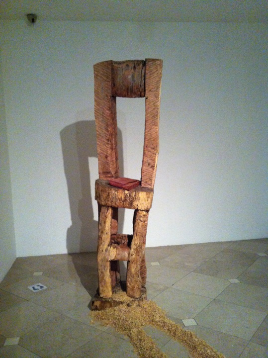 "Old memories.variable installation.W23""L236""H86"".wood and sawdust.2013."