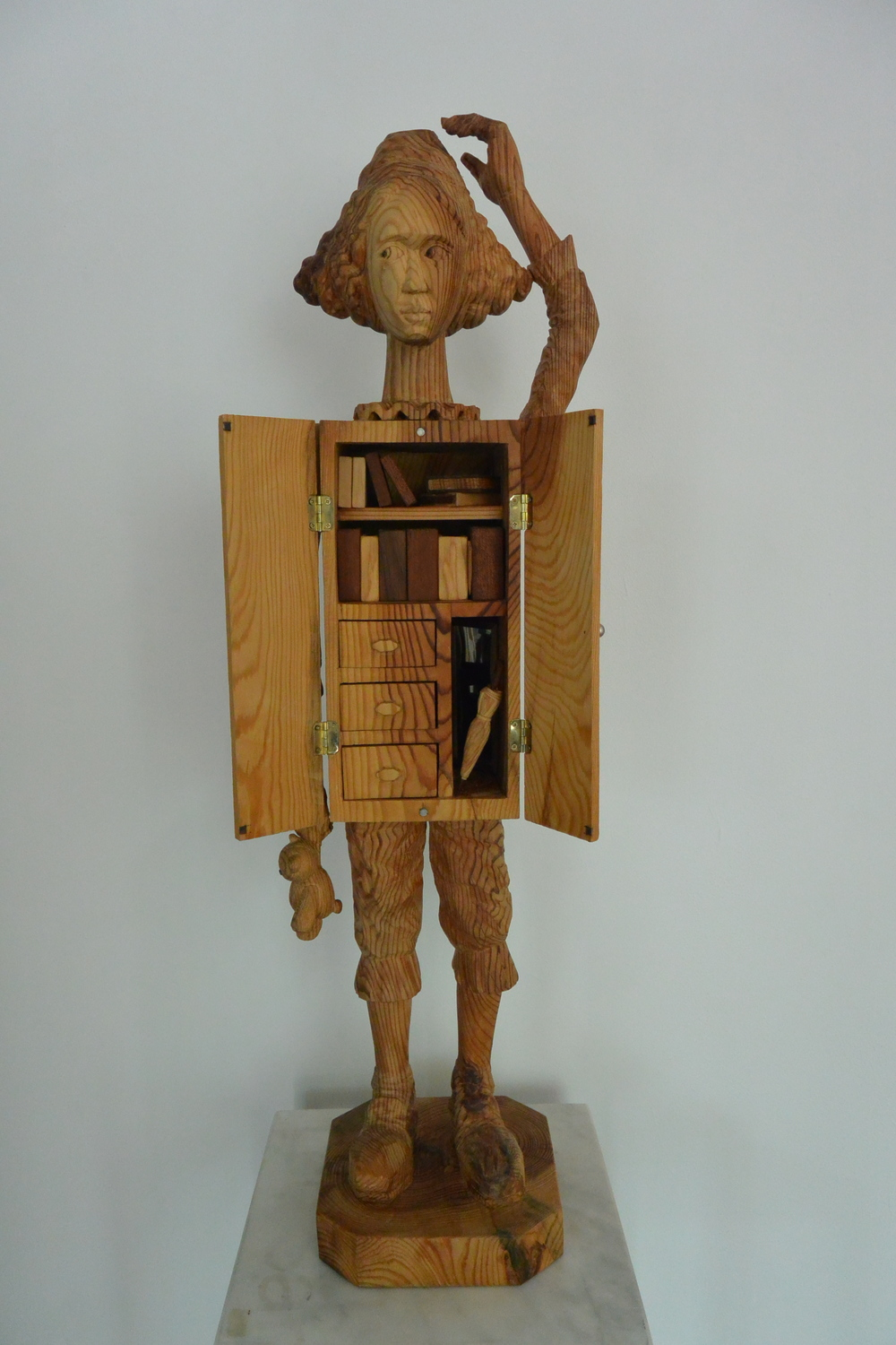 "Memory in the drawer #6.W11""L7.5""H33"".wood.2014"