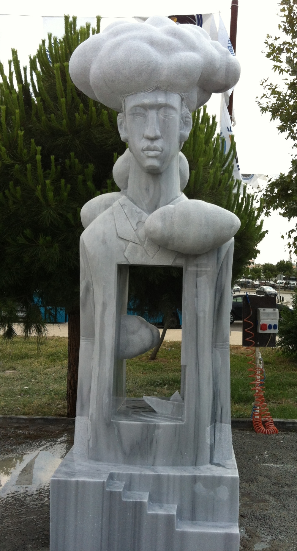 "Beautiful memories.W40""L35""H118"".Marble.2013 Kartal-Turkey"
