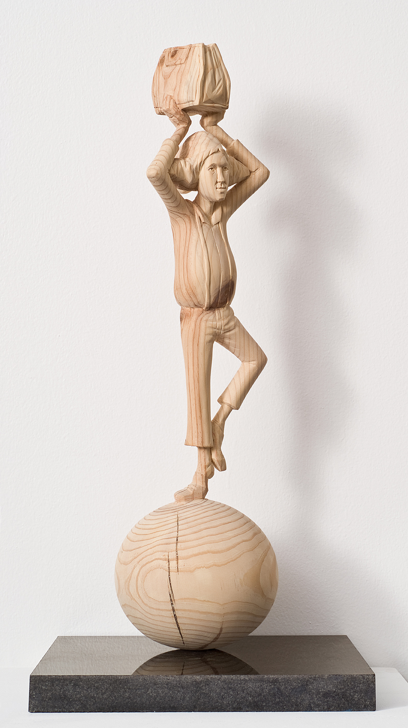 "Acrobatics-man.W6""L6""H23"".wood.2011"