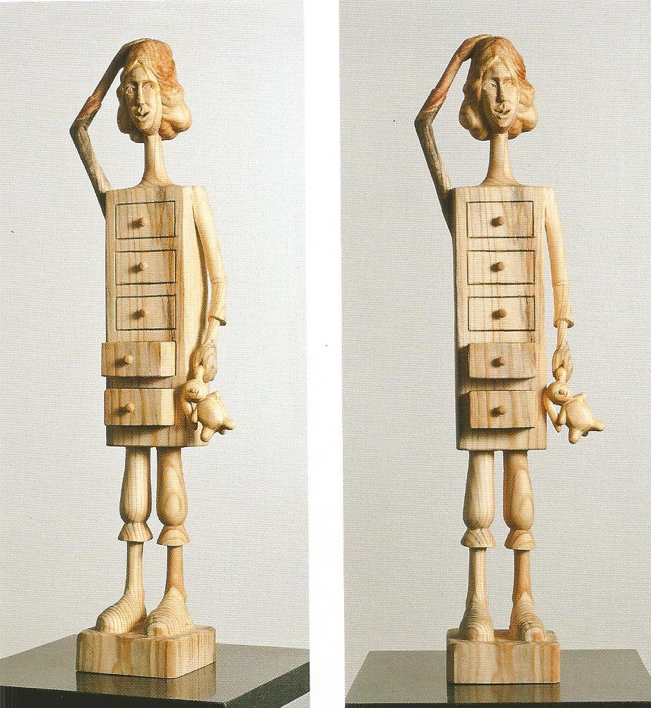 "Memories in the drawer #2.W6.3""L4.3""H24.4"".Wood.2011"