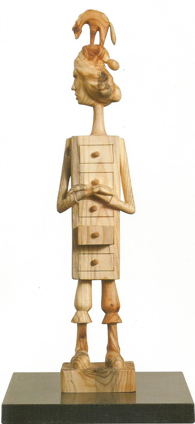 "Memories in the drawer #3.W4.5""L4.3""H24.4"".Wood.2011"