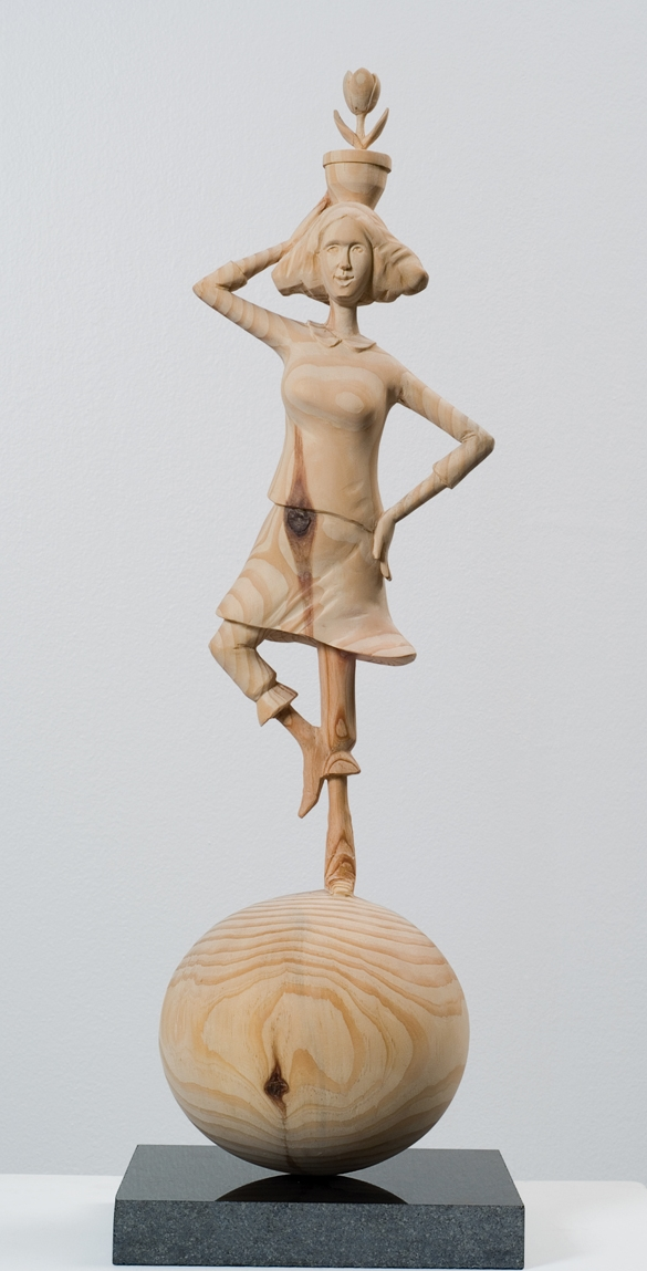 "Acrobatics-Woman.W6""L6""H22"".Wood.2011"
