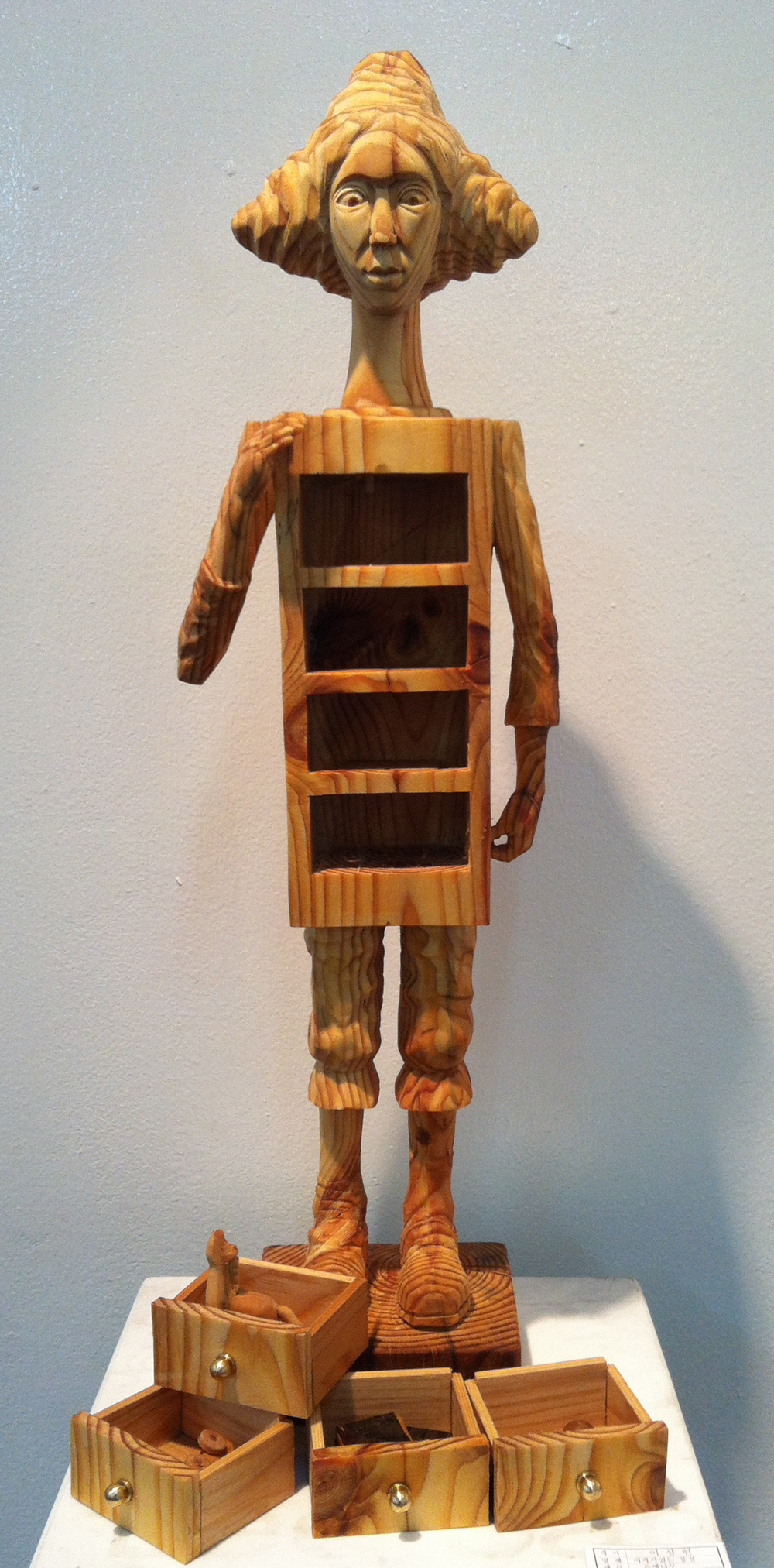 "Memories in Childhood.W9.8""L9.8""H19.7"".Wood.2012"