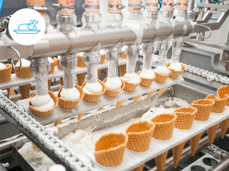 Food - In seconds, the production manager gets updated about production status.