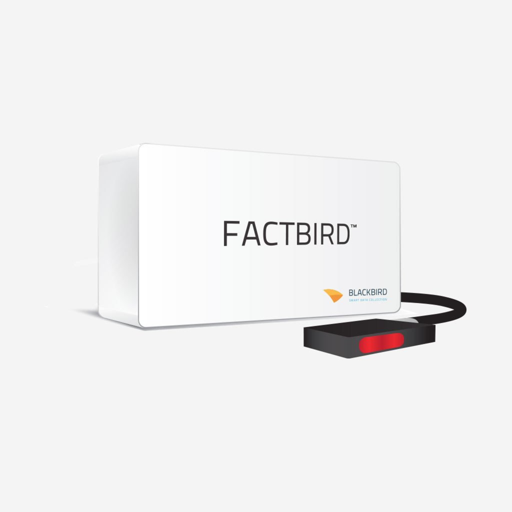 Factbird Standard Package Monthly Subscription - Factbird collects data from sensors(for example, number of units produced, or temperature of materials) and visualizes it on our secure cloud server.You can see this data anytime anywhere to monitor your production status at app.blackbird.online.