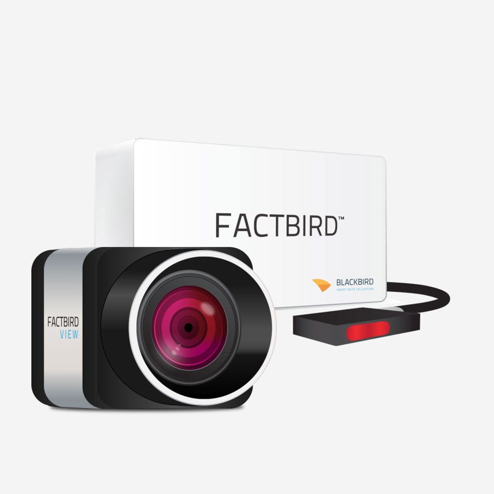 Factbird View Standard package Monthly Subscription - Factbird View collects video images from a network camera and sends constantly to Cloud server, where video images are synced with your production data and archived minute by minute. Video can be viewed anytime on your phone, table and PC at app.blackbird.online.