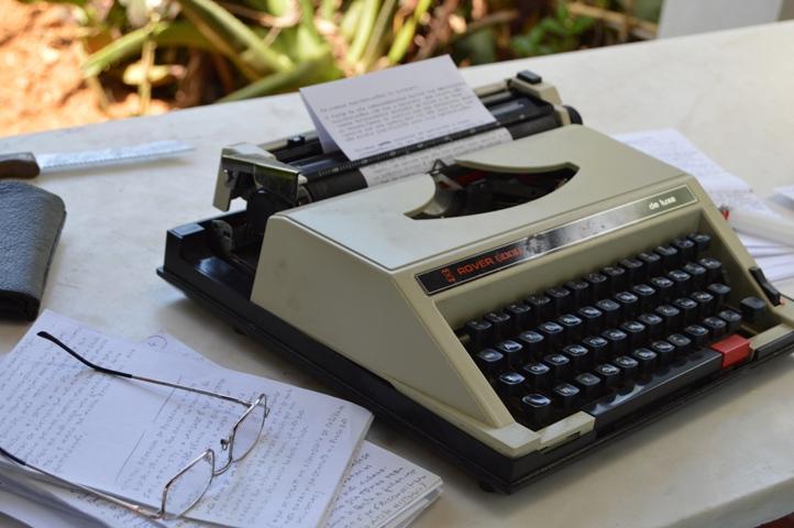 A velhinha máquina de escrever