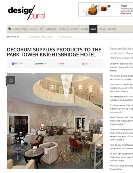 Decorum Est - Design Curial July 2013