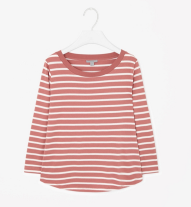Striped cotton T-shirt, 10 euro. Great for layering and with jeans. Bonus: super comfortable.