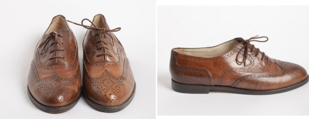 Brown brogues beyond retro
