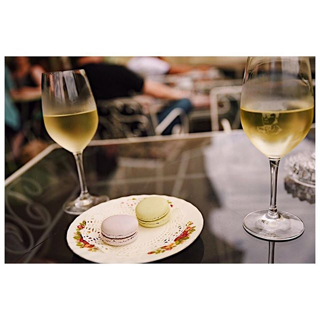 Throw back to lovely wine and macaroons in the rooftop bar at @madamebrussels69. Take me back!  #tbt #thewelllovedwardrobe #travel #melbourne #madamebrussels