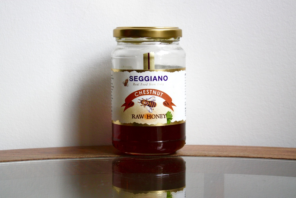 I am obsessed with this raw chestnut honey from Italy