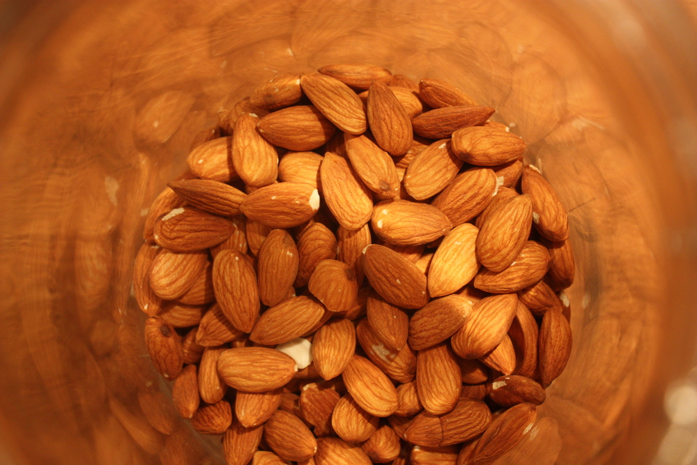 Almonds, a source of both carbs and protein