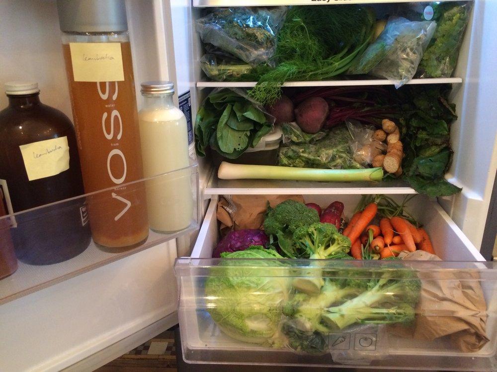 My vegan fridge