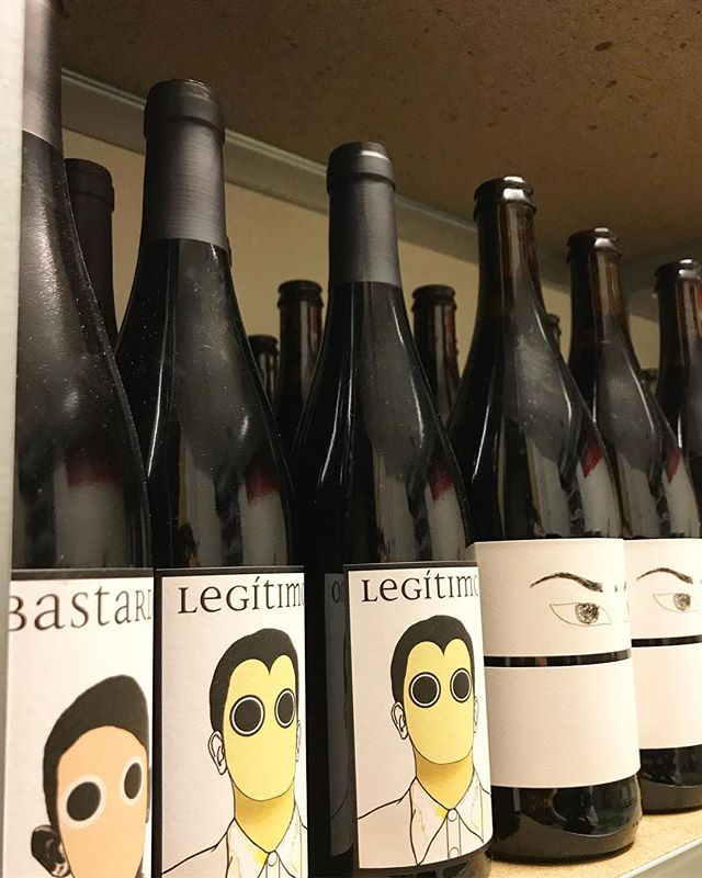 I call this the scary shelf @pedrostinywinebar  @conceito_wines @natcoolwines