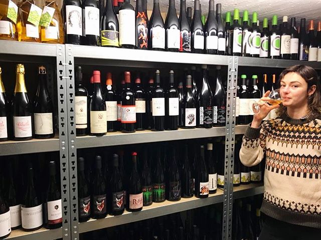 Pretty proud of our cellar @pedrostinywinebar ATM. Great updates from @nebbiolowines  @closetothegrape and @vin_john 🌝 More nice things hitting the shelves and the list soon. Yum. Thanks @jessicayogalondon for snapping me in my element🐅 (Hi @cathrine_hammel I love this jumper!)
